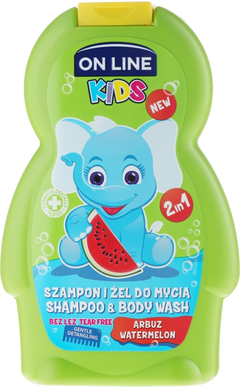 "Шампунь-гель для душа ""Арбуз"" - On Line Kids Watermelon Wash"