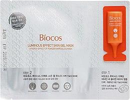 """Духи, Парфюмерия, косметика Гелевая маска для лица """"Эффект сияния"""" - Biocos Luminous Effect Skin Gel Mask (ampoule/0.4g + mask/28ml)"""