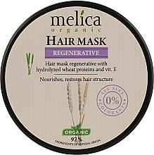 Духи, Парфюмерия, косметика Восстанавливающая маска для волос с протеинами пшеницы и витамином E - Melica Organic Regenerative Hair Mask
