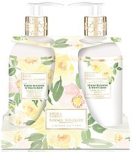 Парфумерія, косметика Набір - Baylis & Harding Royal Bouquet Lemon Blossom & White Rose (b/lot/300ml + soap/300ml)