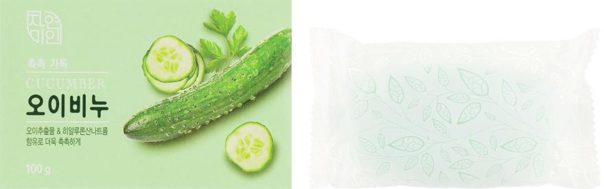 Мыло для лица и тела с экстрактом огурца - Mukunghwa Moisture Cucumber Soap