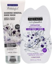 "Духи, Парфюмерия, косметика Маска для лица ""Бриллиант"" - Freeman Feeling Beautiful Diamond Mineral Rinse Mask"