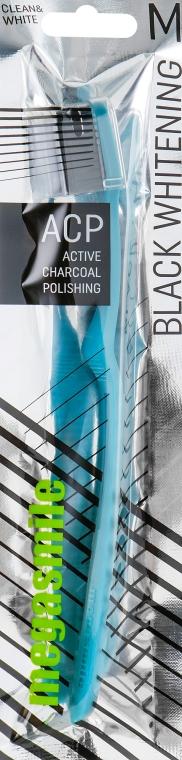 Зубная щетка, голубая - Megasmile Black Whitening