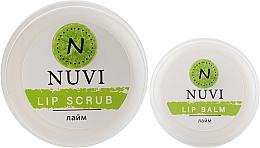 "Духи, Парфюмерия, косметика Подарочный набор для губ ""Лайм"" - Nuvi (lip/balm/10g + lip/scrub/20g)"