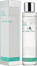 Духи, Парфюмерия, косметика Очищающий тонер для лица с кислотами - Mizon AHA & BHA Daily Clean Toner