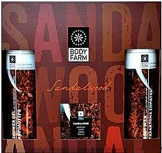 """Духи, Парфюмерия, косметика Подарочный набор """"Сандаловое дерево"""" - Bodyfarm Sandal Tree Gift Set (sh/gel/250ml + b/milk/250ml + soap/110g)"""