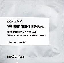 Духи, Парфюмерия, косметика Ночной восстанавливающий крем - Beauty Spa Genesis Night Revival Restructuring Night Cream (пробник)