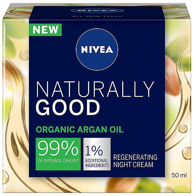 Восстанавливающий ночной крем для всех типов кожи - Nivea Naturally Good Night Regeneration Care