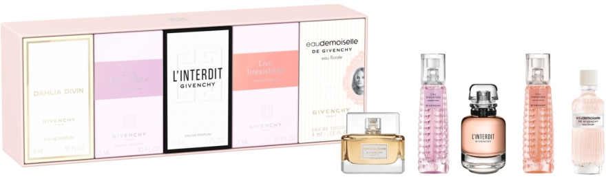 Givenchy Miniature Fragrance Travel Exclusive Set - Набор (edp/5ml/x3 + edt/5ml/x2)