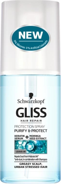 Спрей для поврежденных и жирных волос - Gliss Kur Purify & Protect Spray