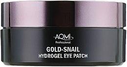 Гидрогелевые патчи с муцином улитки и коллоидным золотом - Aomi Gold-Snail Hydrogel Eye Patch — фото N4