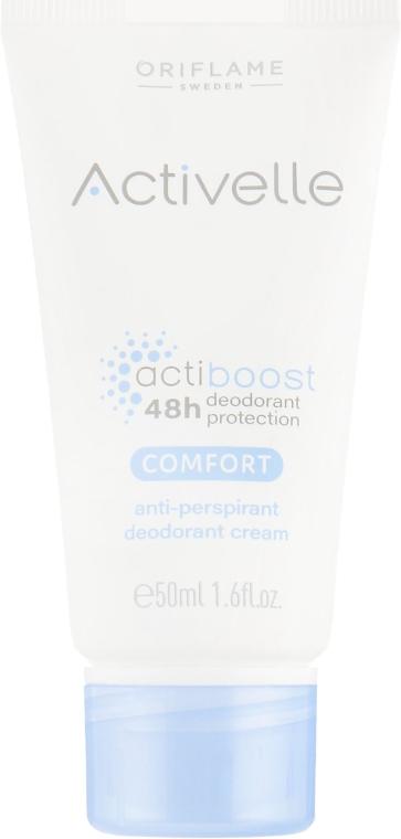 Кремовый дезодорант-антиперспирант с ухаживающим комплексом - Oriflame Activelle Comfort Anti-perspirant Deodorant