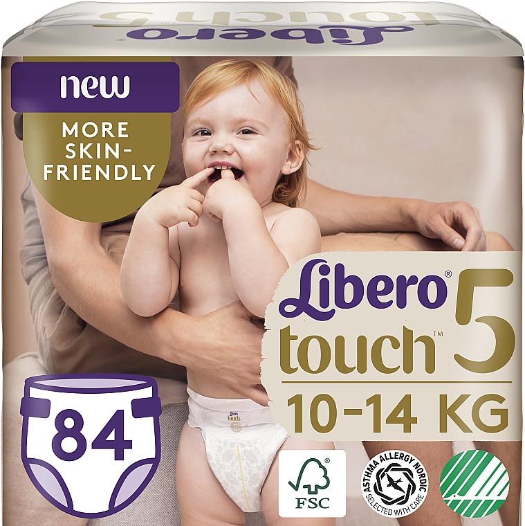 Подгузники Touch 5 (10-14 кг), 84 шт - Libero
