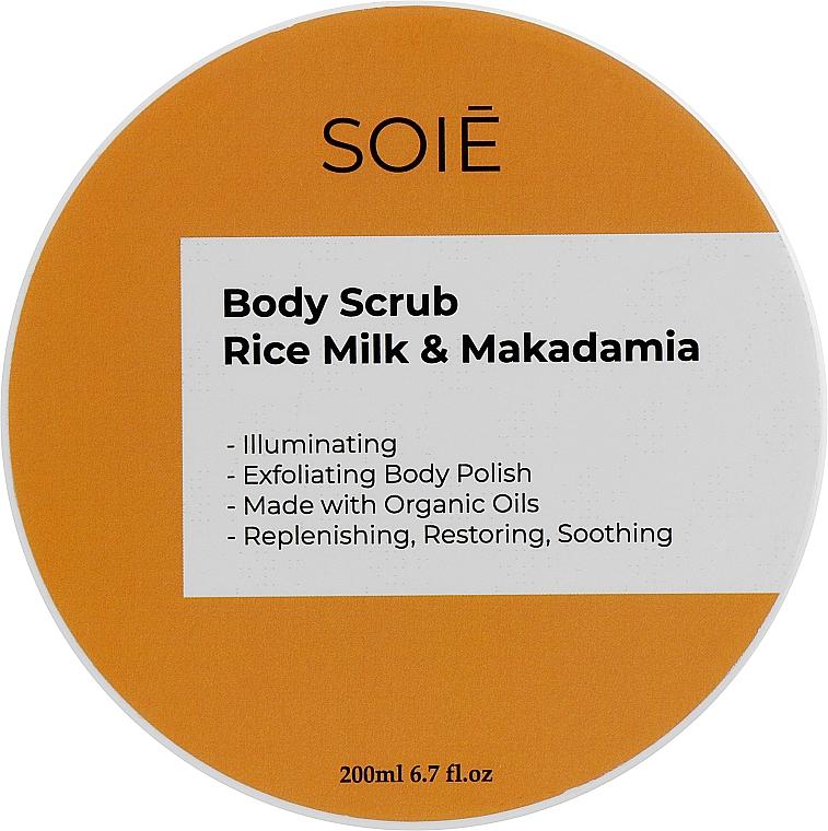 Скраб-пилинг для тела из рисового молока и макадамии - Soie Rice Milk & Macadamia Body Scrub