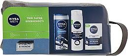 """Парфумерія, косметика Набір """"Для чутливої шкіри 4"""" - Nivea For Men (foam/200ml + ash/balm/100ml + sh/gel/250ml + bag)"""