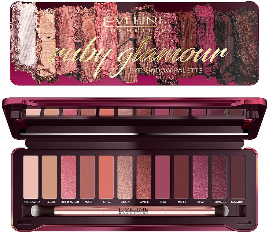 Палетка теней для век - Eveline Cosmetics Ruby Glamour Eyeshadow Palette