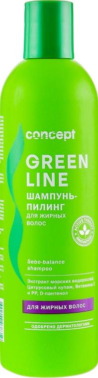 Шампунь-пилинг для жирных волос - Concept Green Sebo-balance Shampoo