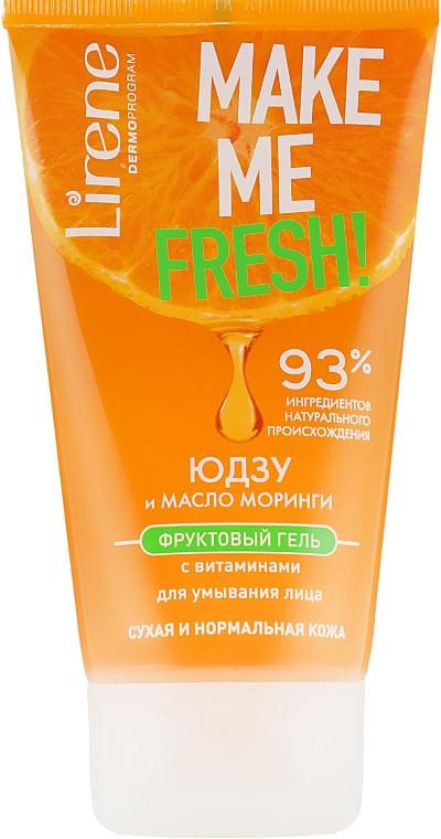Гель для умывания с экстрактом юзу и маслом моринги - Lirene Make Me Clean! Fresh Vegetable Gel
