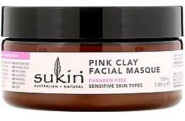 Духи, Парфюмерия, косметика Маска для чувствительной кожи с розовой глиной - Sukin Pink Clay Facial Masque