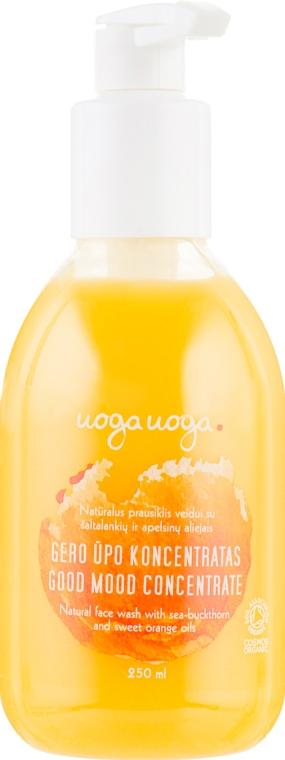 Крем-гель для умывания с облепиховым и апельсиновым маслом - Uoga Uoga Good Mood Concentrate Natural Face Wash
