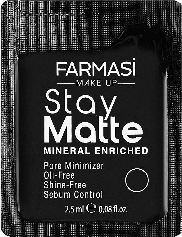 Устойчивый матирующий тональный крем - Farmasi Stay Matte Foundation (пробник)