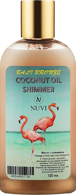 Мерцающее масло с шиммером для активации загара - Nuvi Bali Bronze Coconut Oil Shimmer