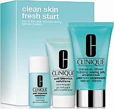 Духи, Парфюмерия, косметика Набор - Clinique Clean Skin, Fresh Start (gel/30ml + cr/gel/15ml + jelly/50ml)