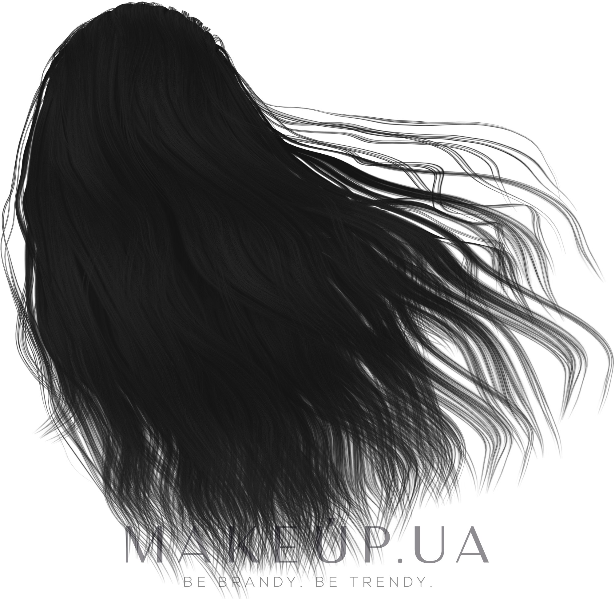 Крем-краска для волос - Inebrya Color — фото 1 - Чистый черный