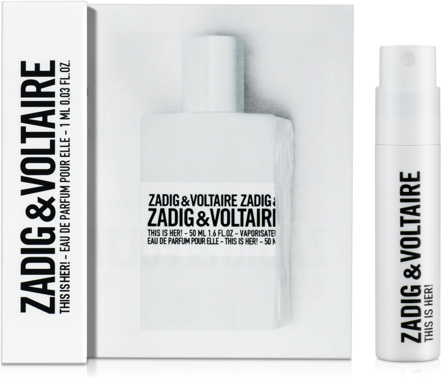 Zadig & Voltaire This is her - Парфюмированная вода (пробник)