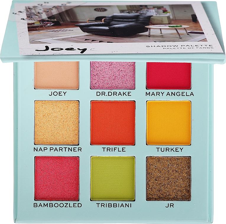 Палетка теней для век - Makeup Revolution Friends X Revolution Eyeshadow Palette Joey