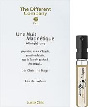 Духи, Парфюмерия, косметика The Different Company Une Nuit Magnetique - Парфюмированная вода (пробник)
