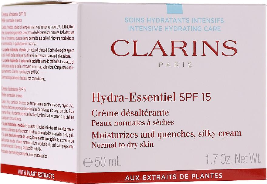 Увлажняющий крем для нормальной и склонной к сухости кожи SPF 15 - Clarins Hydra-Essentiel Silky Cream SPF 15