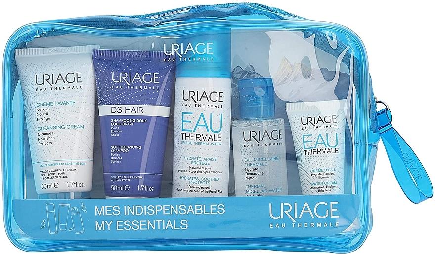Набор - Uriage Eau Thermale My Essentials (mic/w/50ml+cl/cr50ml+water/50ml+shamp/50ml+cream/15ml)