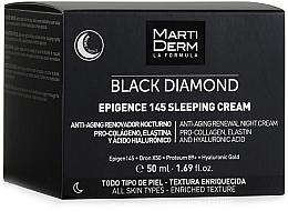 Духи, Парфюмерия, косметика Ночной крем для лица - MartiDerm Black Diamond Epigence 145 Sleeping Cream