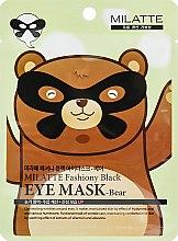 Духи, Парфюмерия, косметика Маска от морщин вокруг глаз - Milatte Fashiony Black Eye Mask-Bear
