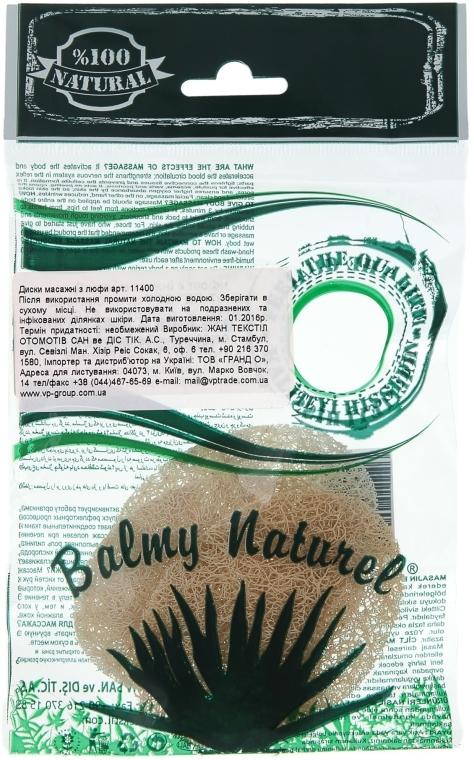 Диски массажные для пилинга из люфы - Balmy Naturel