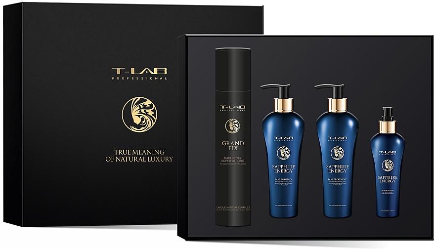 Набор - T-LAB Professional Sapphire Energy (h/ser/130ml + h/cond/250ml + h/shm/250ml + h/spr/300ml)