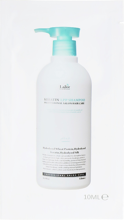 Кератиновый бессульфатный шампунь - La'dor Keratin LPP Shampoo (пробник)