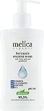 Духи, Парфюмерия, косметика Средство для интимной гигиены с молочной кислотой и пантенолом - Melica Organic Intimate Hygiene Wash