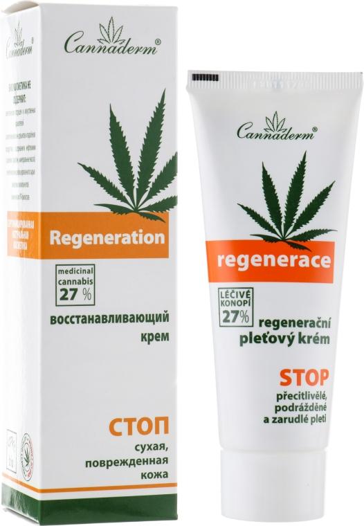 Восстанавливающий крем для очень чувствительной или сухой кожи лица - Cannaderm Regenerace Cream