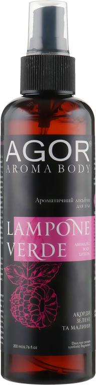 Ароматический лосьон для тела - Agor Aroma Body Lampone Verde