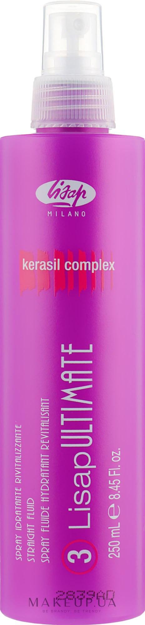 Распрямляющий флюид с функцией термозащиты - Lisap Ultimate Plus Straight Fluid — фото 250ml