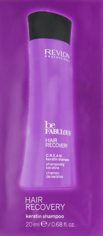 Очищающий шампунь с кератином - Revlon Professional Be Fabulous Hair Recovery Keratin Shampoo (пробник)