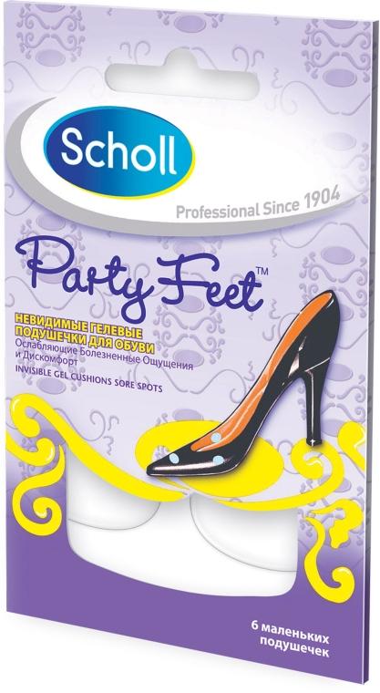Прозрачные ультратонкие гелевые подушечки - Scholl Party Feet Invisible Gel Sore Spots