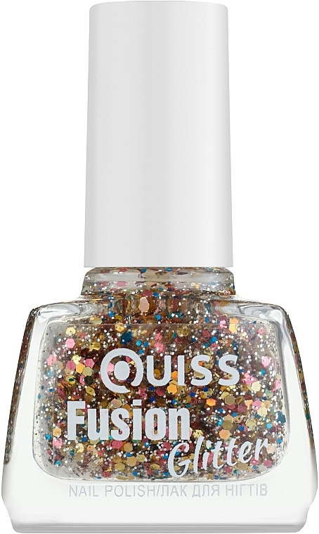 Лак для ногтей - Quiss Fusion Glitter Nail Polish