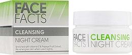 Духи, Парфюмерия, косметика Ночной крем для лица - Face Facts Cleansing Night Cream
