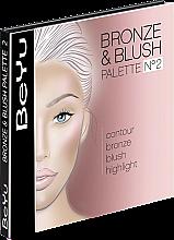 Духи, Парфюмерия, косметика Набор для контуринга - BeYu Bronz & Blush Palette
