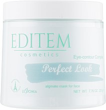 Духи, Парфюмерия, косметика Альгинатная маска для лица - Editem Cosmetics Eye Contour Perfect Look Alginate Mask For Face