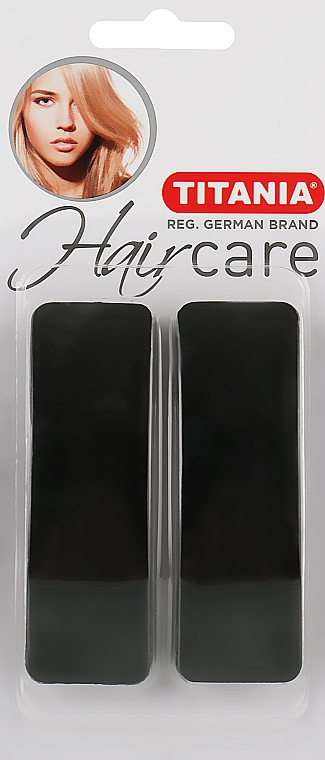 Заколки для волос, 8,5х2,5см, 2шт., черные - Titania