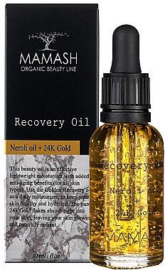 Восстанавливающее масло для лица - Mamash Organic Recovery Oil Neroli Oil + 24K Gold